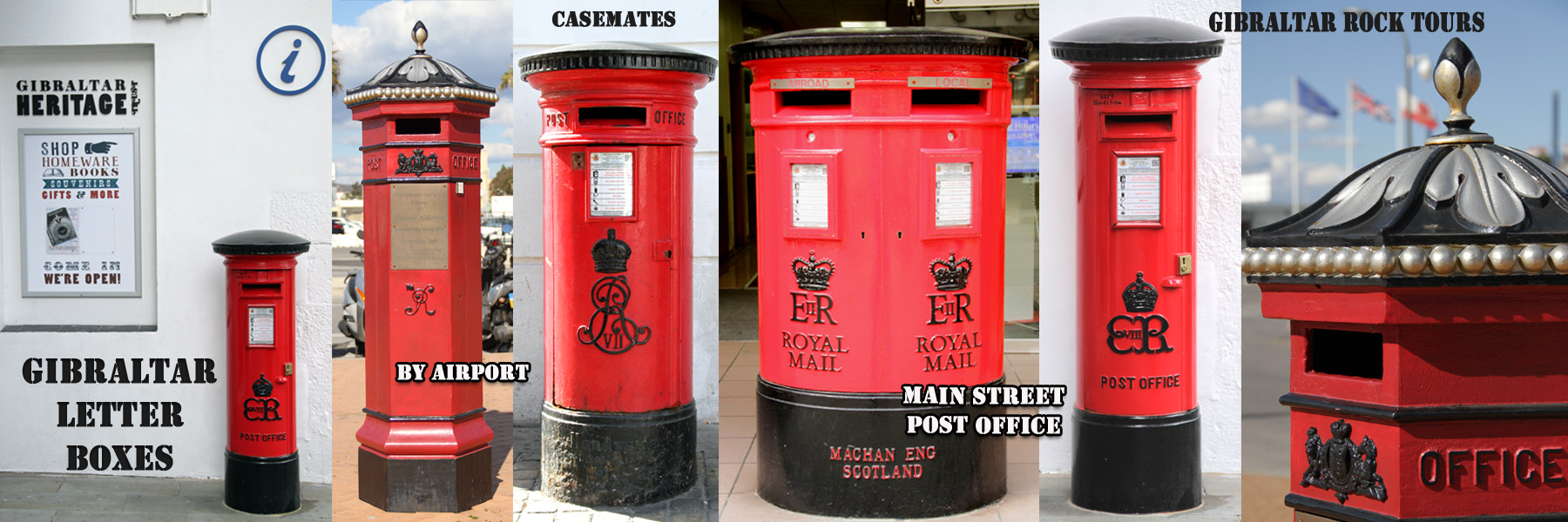 Royal Mail Letter Box.Gibraltar Rock Tours Gibraltar Rock Tours Post Office